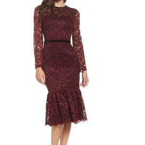 Nordstrom Maggy London Lace Midi Dress
